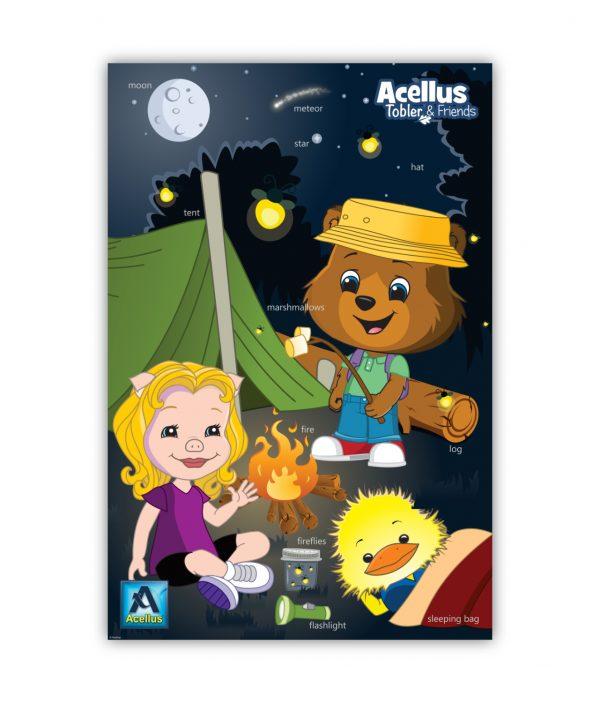 Tobler & Friends Poster - Camping
