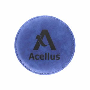 Acellus Leather Coaster - Front